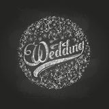 Chalk drawing.Wedding Royalty Free Stock Photos