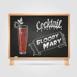 Chalk drawings. cocktail. Bloody mary Royalty Free Stock Photos