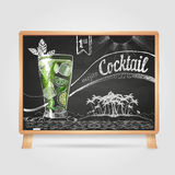 Chalk drawings. cocktail Stock Images