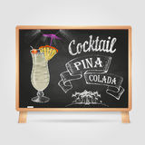 Chalk drawings. cocktail Royalty Free Stock Images