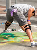 Chalk Drawings. Denver, Colorado-June 3, 2012: 2012 Denver Chalk Art Festival on Larimer Square. Denver, Colorado Stock Images