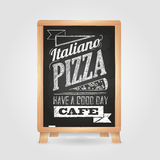 Chalk drawings. Menu. Pizza Royalty Free Stock Image