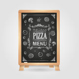 Chalk drawings. Pizza Stock Images