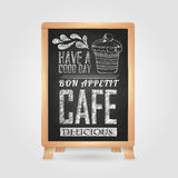 Chalk drawings. Retro typography Stock Photos