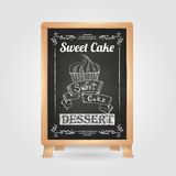Chalk drawings. Retro typography. Cake royalty free illustration