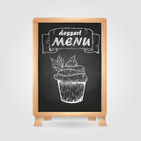 Chalk drawings. Retro typography Royalty Free Stock Photo