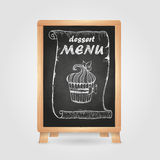 Chalk drawings. Retro typography Stock Images