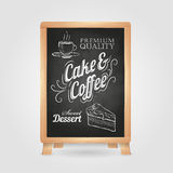 Chalk drawings. Retro typography Stock Image