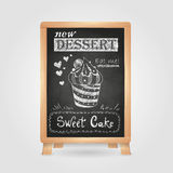 Chalk drawings. Retro typography. Stock Photography