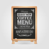 Chalk drawings. Retro typography. Coffee vector illustration