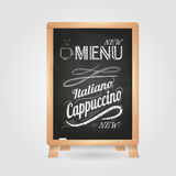 Chalk drawings. Retro typography. Stock Images