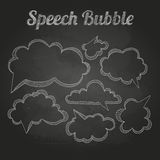 Chalk drawings. Set of speech  bubble. Stock Image