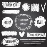 Chalk drawn vector graphic elements collection Stock Image