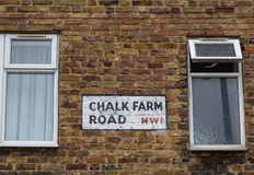 Chalk Farm Road Sign Stock Image