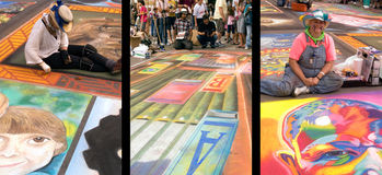 Chalk festival three Royalty Free Stock Image