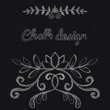 Chalk floral ornament. In retro style Royalty Free Stock Image