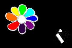 chalk flower Стоковые Фото