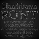 Chalk font Royalty Free Stock Image