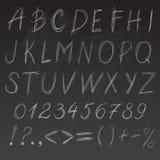 Chalk font Royalty Free Stock Photo