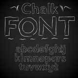 Chalk font Stock Images