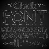 Chalk font Royalty Free Stock Images