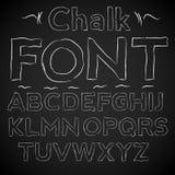 Chalk font Stock Photo