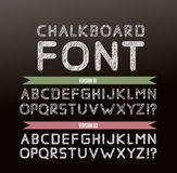 Chalk font in two variations Stock Images