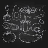 Chalk food drawing Stock Photo
