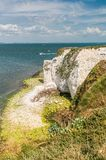 Chalk formation Old Harry Rocks in eastern Dorset Stock Photos