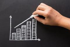 Chalk graph Stock Photo