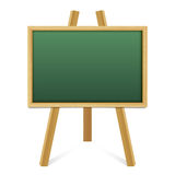 Chalk green board in a wood frame on white background. Royalty Free Stock Photography