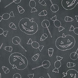Chalk Halloween Background Royalty Free Stock Photo