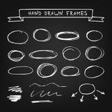 Chalk hand drawn frames Stock Photos