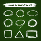 Chalk hand drawn frames Royalty Free Stock Images
