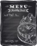 Chalk healthy food menu. Royalty Free Stock Photography