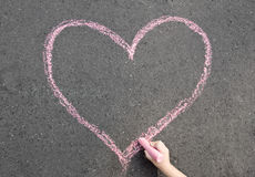 Chalk heart Royalty Free Stock Photos
