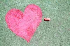 Chalk Heart royalty free stock image
