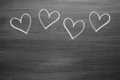 Chalk heart shapes Stock Photos