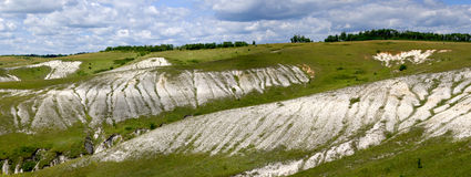 Chalk hills Stock Photography