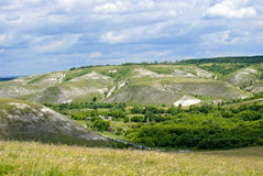 Chalk hills Royalty Free Stock Images