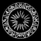 Chalk Horoscope icons poster Stock Photography