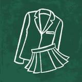 Chalk icon. school wear illustration Royalty Free Stock Photography