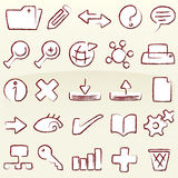 Chalk icons database (vector) Stock Image