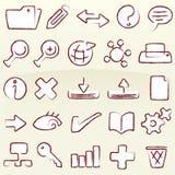 Chalk icons database (vector). Database icon set; chalk (vector). Original editable shapes in AI CS2 file Stock Image