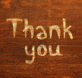Chalk  inscription thank you Royalty Free Stock Image
