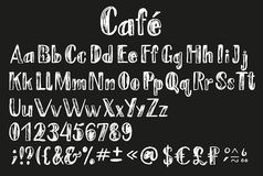 Chalk latin alphabet. Royalty Free Stock Photos