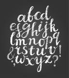 Chalk latin script font. Royalty Free Stock Photo