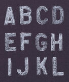 Chalk letters Stock Image