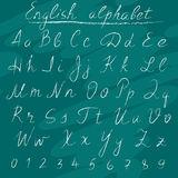 Chalk english alphabet Royalty Free Stock Images