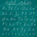 Chalk english alphabet Royalty Free Stock Images